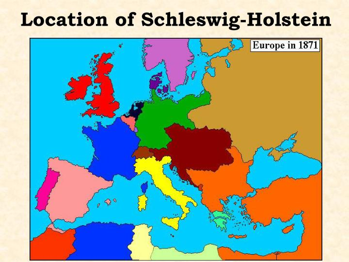 Location of Schleswig-Holstein