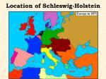 location of schleswig holstein