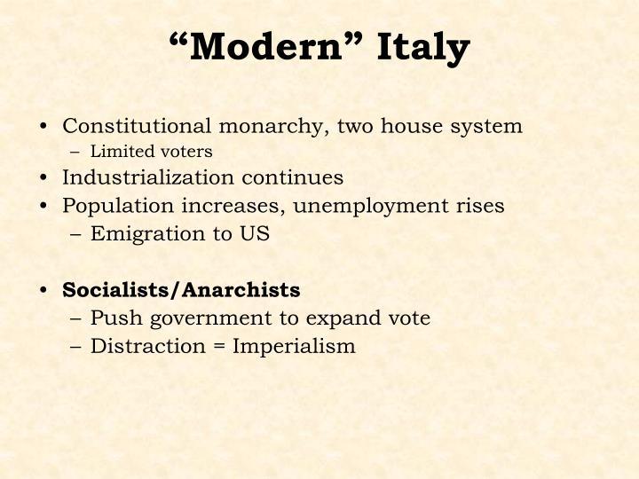 """Modern"" Italy"