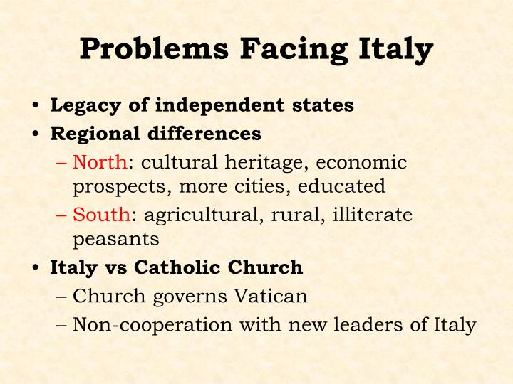 Problems Facing Italy