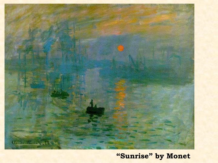 """Sunrise"" by Monet"