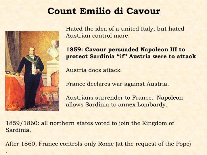 Count Emilio di Cavour