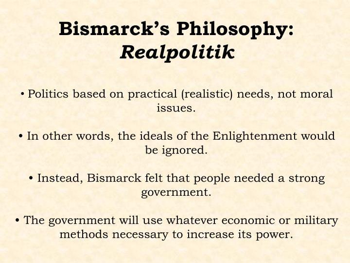 Bismarck's Philosophy: