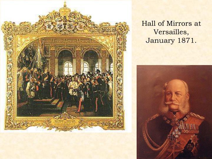 Hall of Mirrors at Versailles, January 1871.