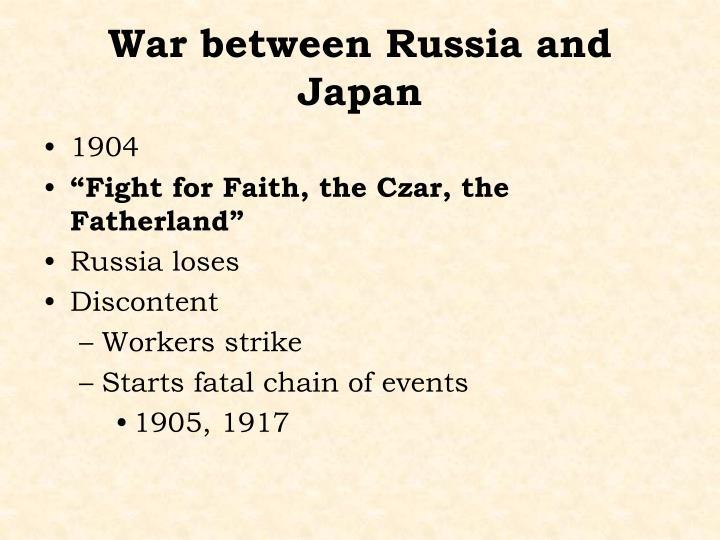 War between Russia and Japan