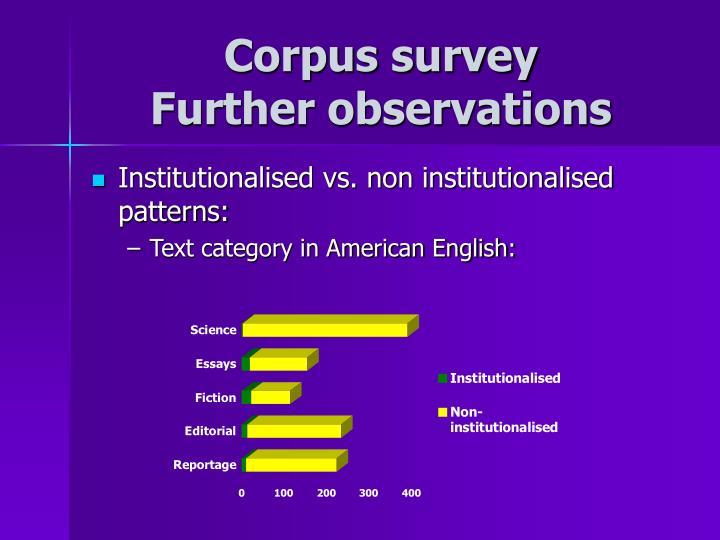 Corpus survey