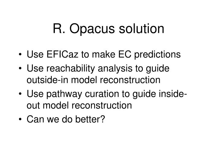 R. Opacus solution