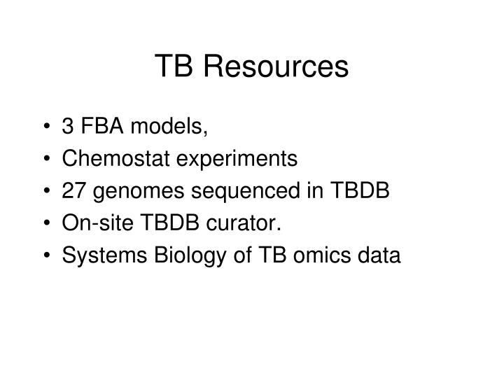 TB Resources