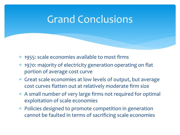 Grand Conclusions