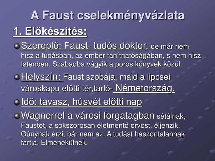A Faust cselekményvázlata