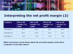 interpreting the net profit margin 2