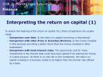 interpreting the return on capital 1