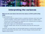 interpreting the variances1