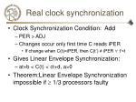 real clock synchronization