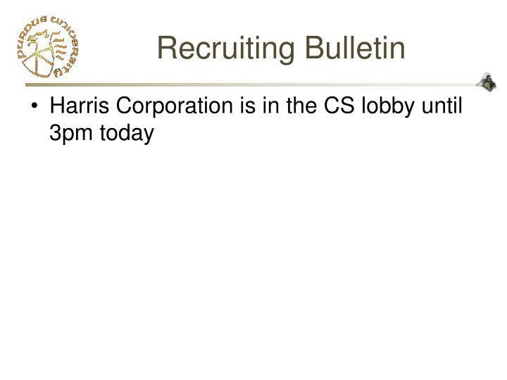 Recruiting Bulletin