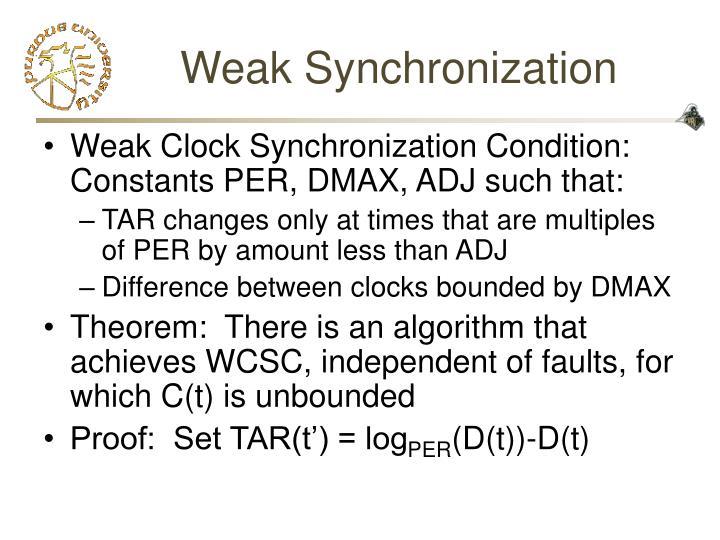 Weak Synchronization