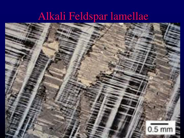 Alkali Feldspar lamellae