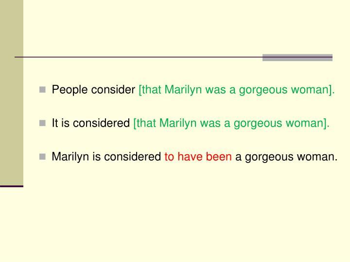 People consider