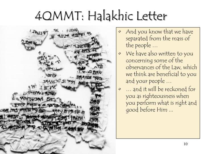 4QMMT: Halakhic Letter