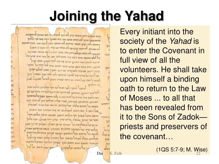 Joining the Yahad