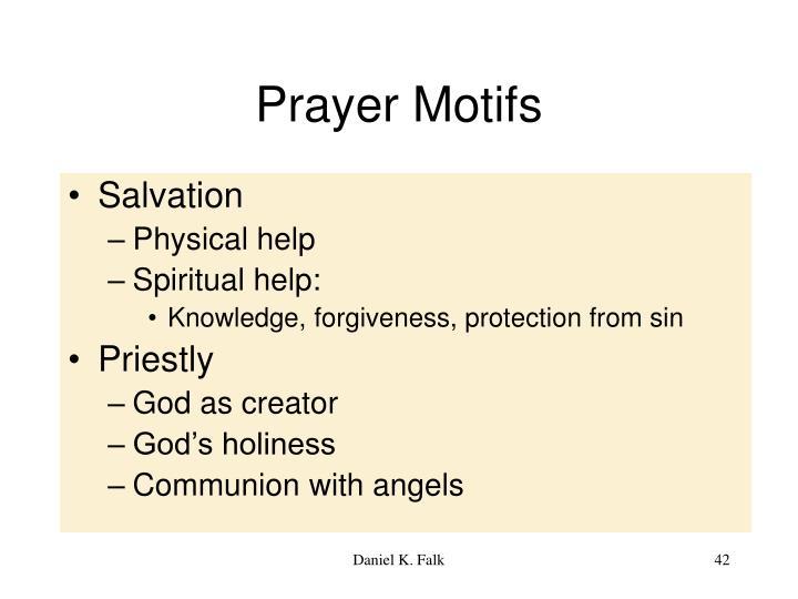 Prayer Motifs
