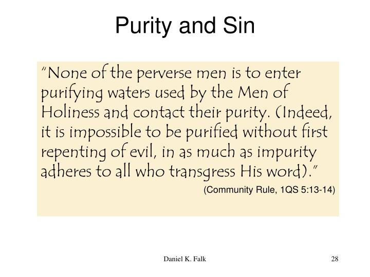 Purity and Sin