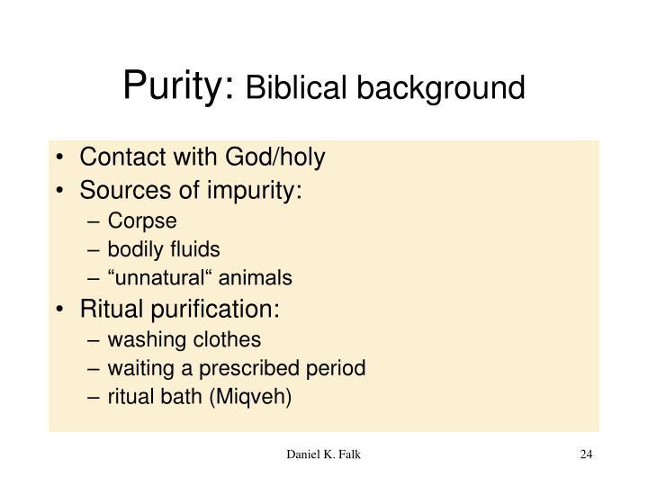 Purity: