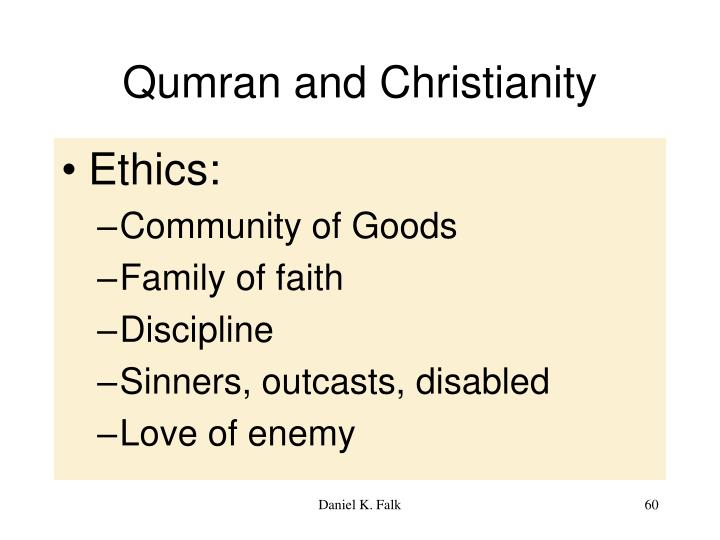 Qumran and Christianity