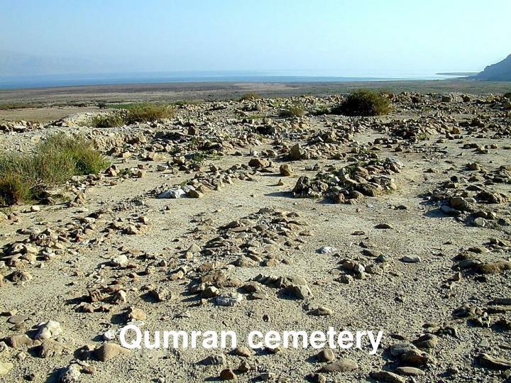Qumran cemetery