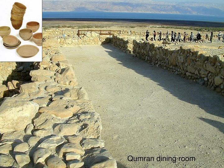Qumran dining room