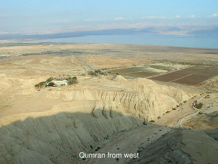 Qumran from west