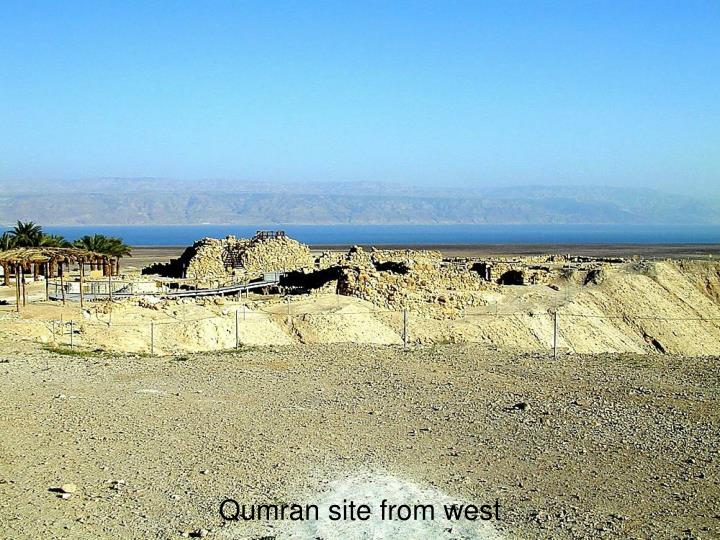 Qumran site from west