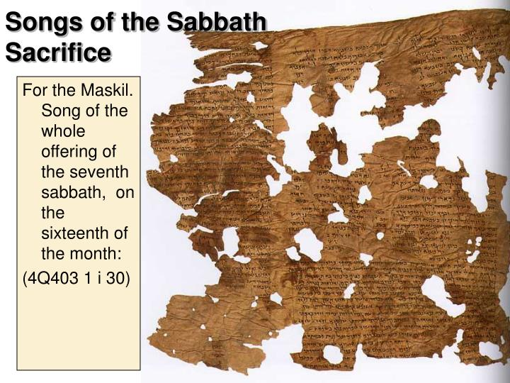 Songs of the Sabbath Sacrifice