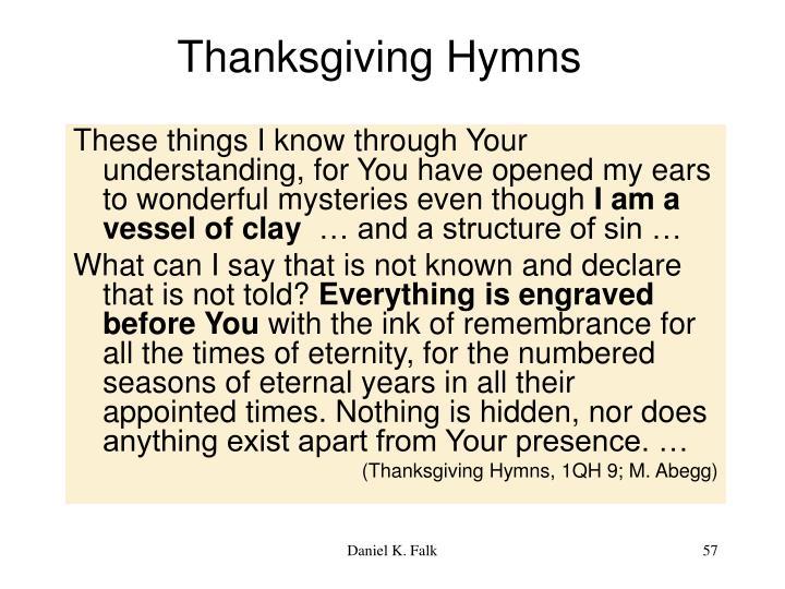 Thanksgiving Hymns