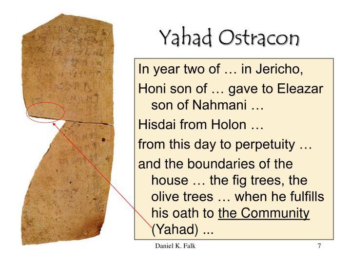 Yahad Ostracon