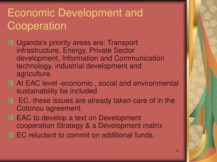 Economic Development and Cooperation