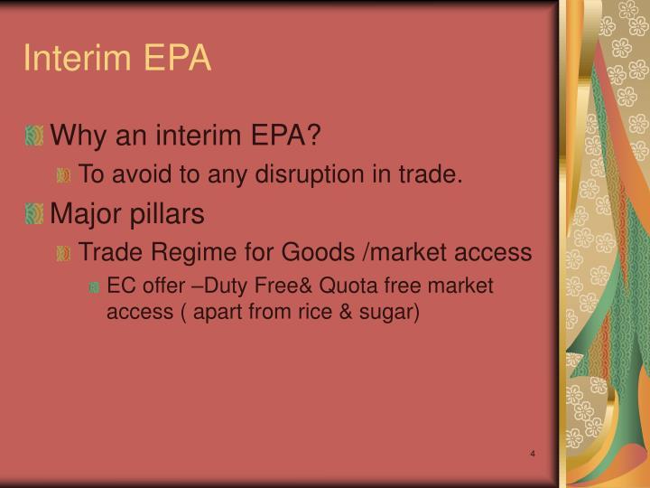 Interim EPA