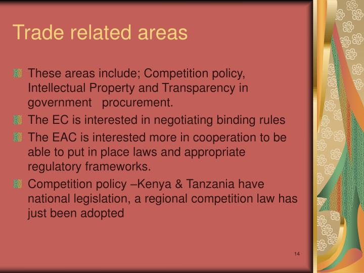 Trade related areas