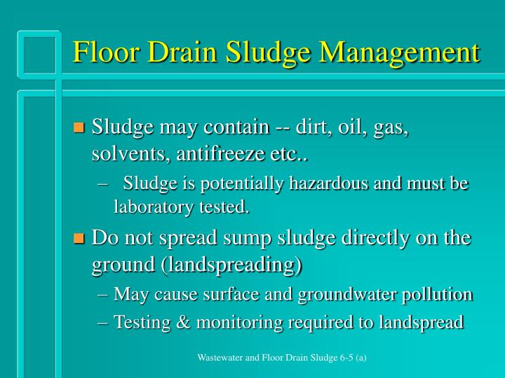 Floor Drain Sludge Management