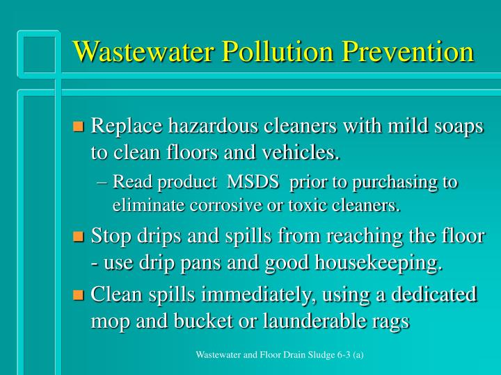 Wastewater Pollution Prevention