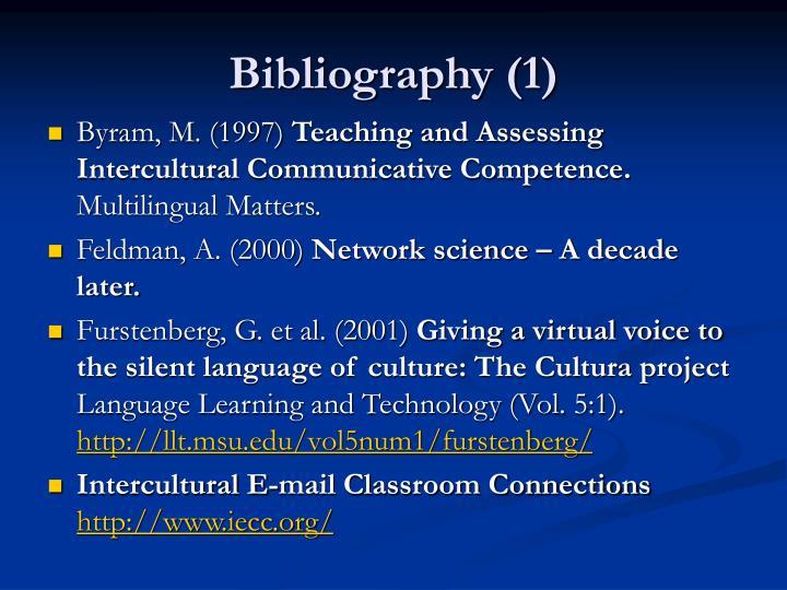 Bibliography (1)