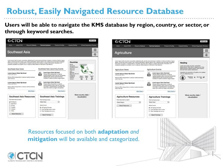 Robust, Easily Navigated Resource Database