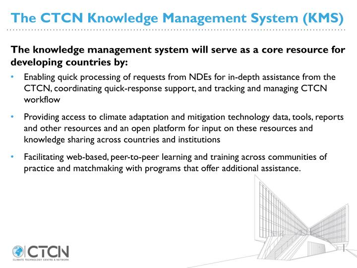 The CTCN Knowledge Management System (KMS)