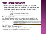 the head element