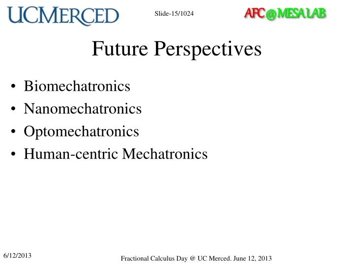 Future Perspectives
