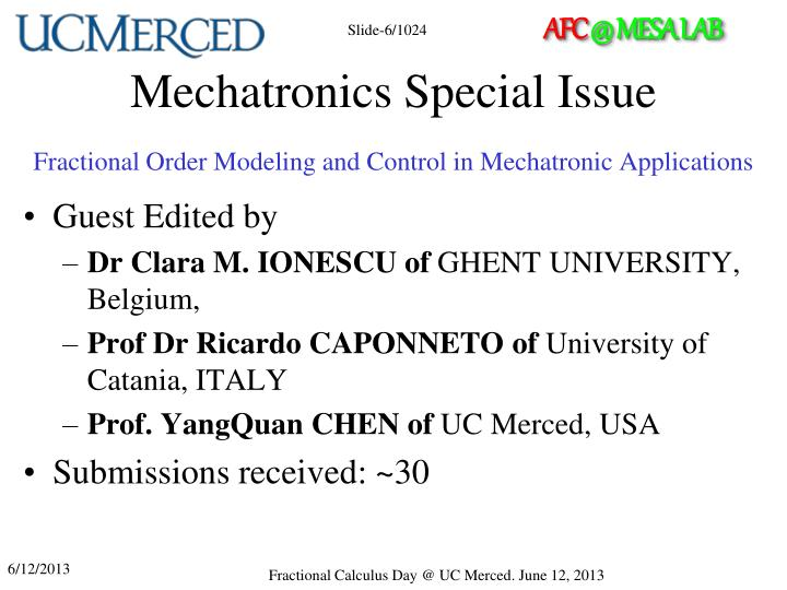 Mechatronics Special
