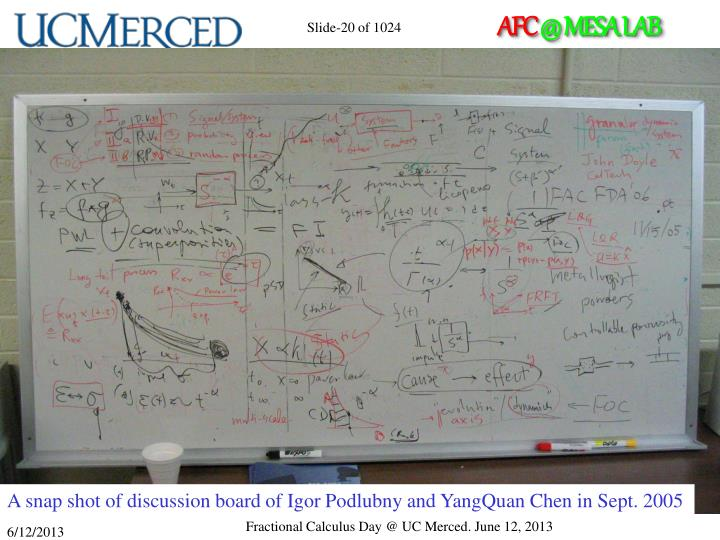 A snap shot of discussion board of Igor Podlubny and YangQuan Chen in Sept. 2005