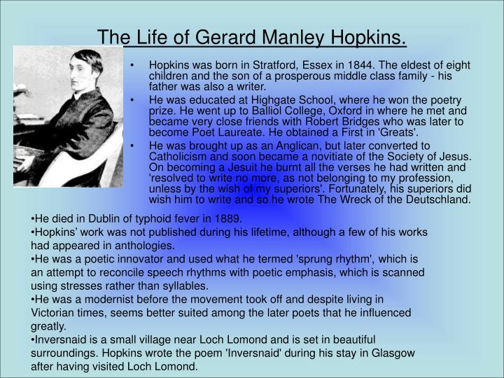 The life of gerard manley hopkins