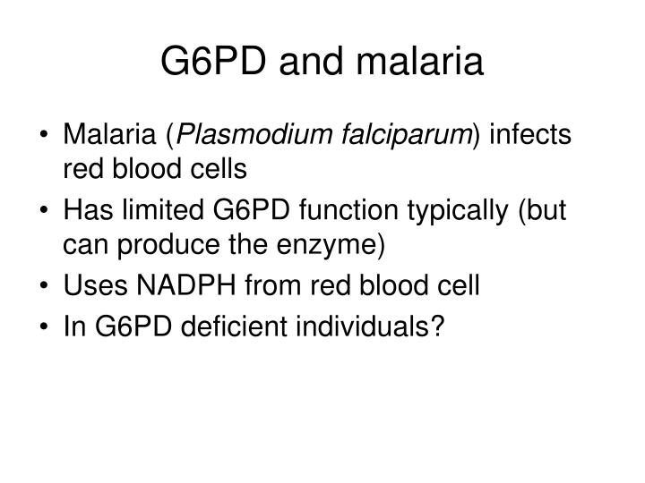 G6PD and malaria
