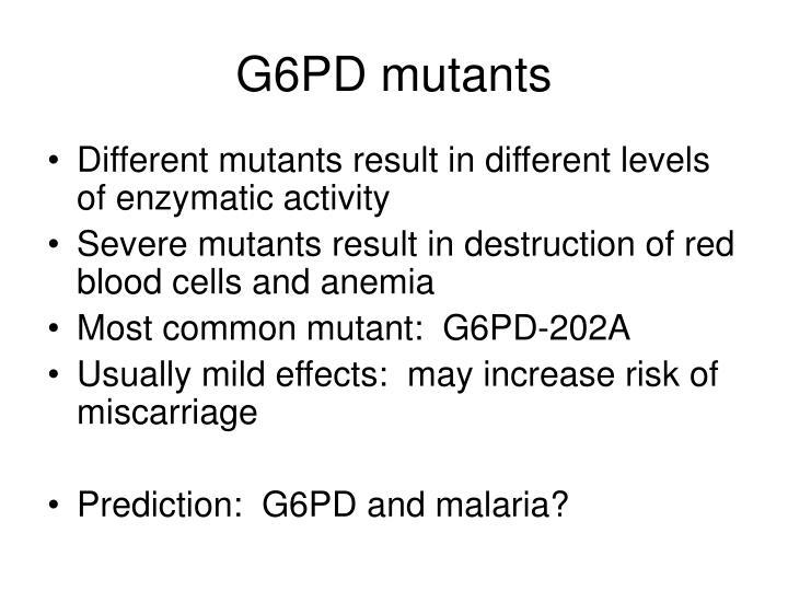 G6PD mutants